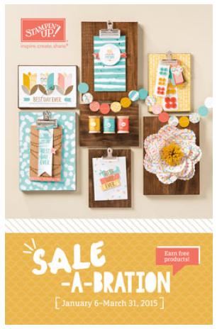 stampin up, sale-a-bration catalog 2015