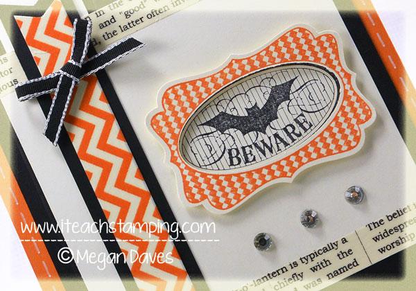 halloween Bash, Stampin up, diy card making