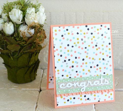 DIY Card Making:  Quick & Easy Congratulations Cards