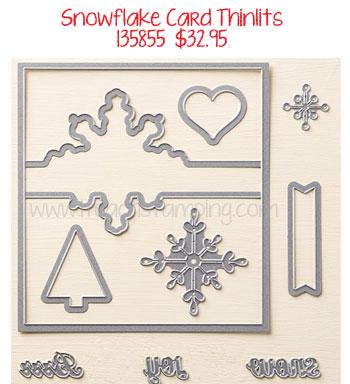 snowflake card thinlits stampin up