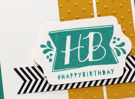 CAS {Clean And Simple} Birthday Card Idea
