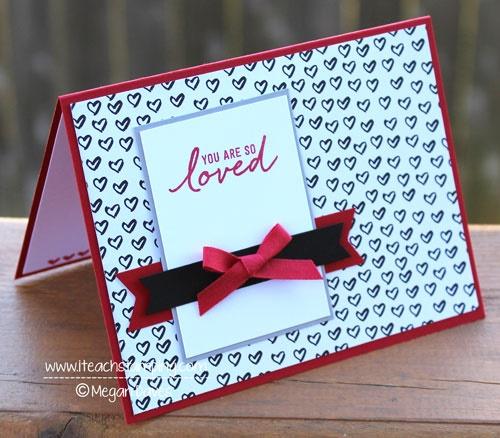 Super simple hand stamped valentine card i teach stamping super simple hand stamped valentine card m4hsunfo