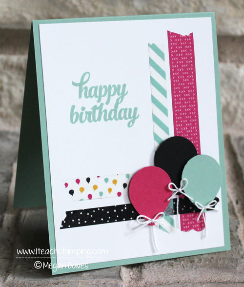 One of many birthday card ideas using washi tape for How do you use washi tape