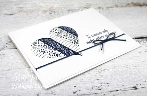 Cool things to do with washi tape - card