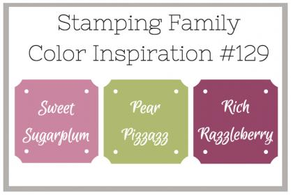 Sweet Handmade Cards Stamping Family Color Inspiration