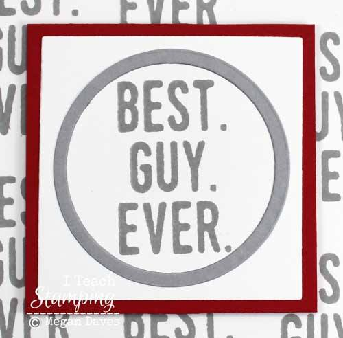 Masculine Stampin Up Cards closeup