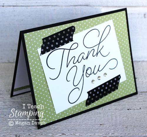 how to make cute thank you cards fast and easy i teach stamping