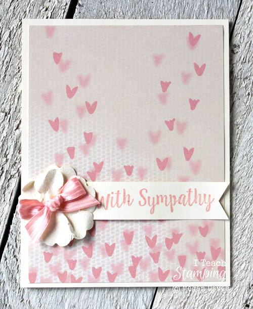 How To Make Little Paper Flowers Sympathy Card Showing Dimension