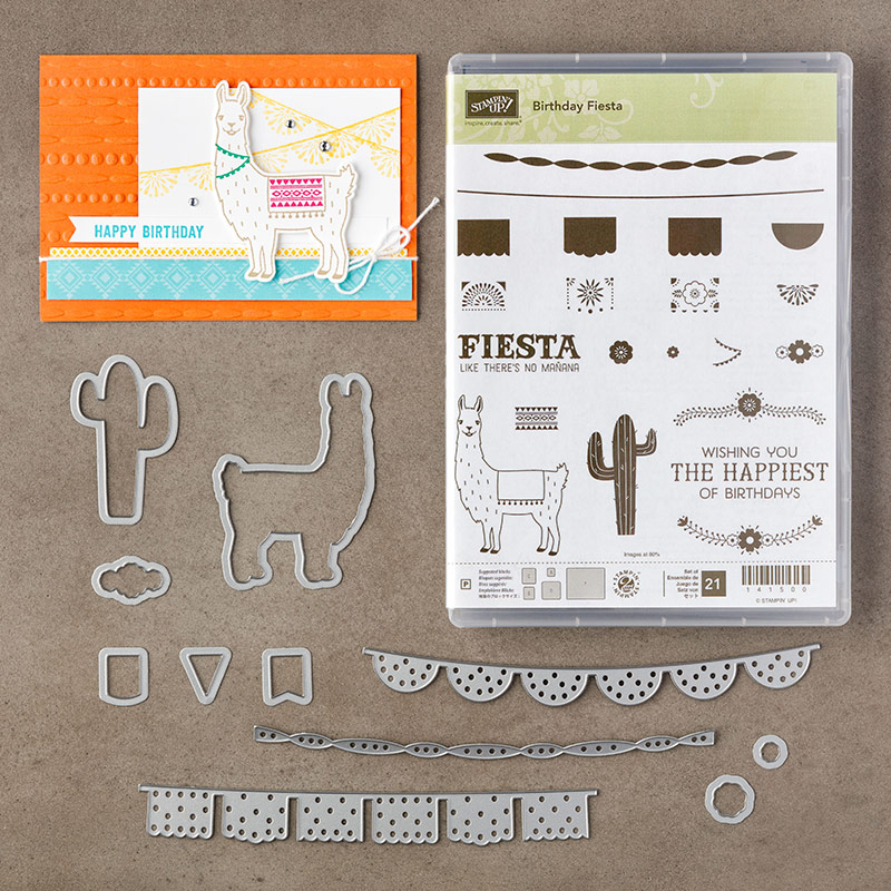 Stampin' Up! Festive Birthday paper and matching bundle