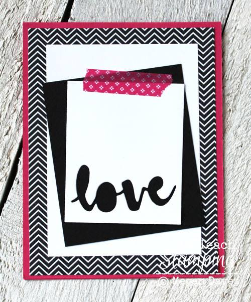 Such a great way of using word dies for card making