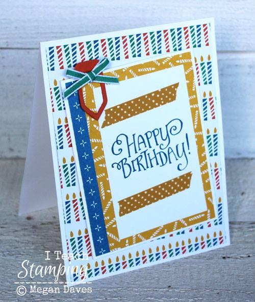 Unique Die cutting on a birthday card