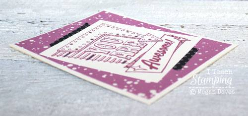 doodling and drawing on stamped cards