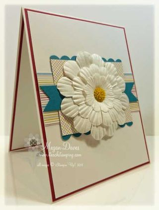 paper daisies stampin' up easy card to make