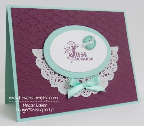 Sending a hand made greeting card just because i teach stamping sending a just because hand made greeting card m4hsunfo