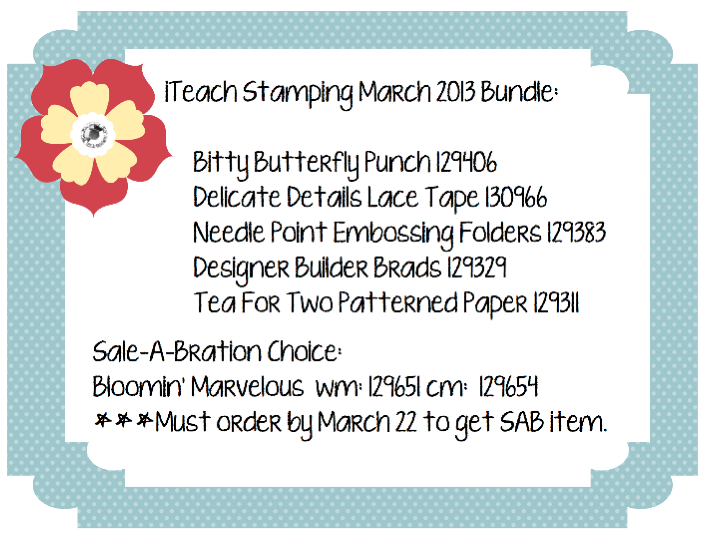 iTeach Stamping March 2013 Bundle