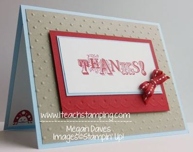 Embossing and Debossing with the Borders Scoring Plate from Stampin' Up!