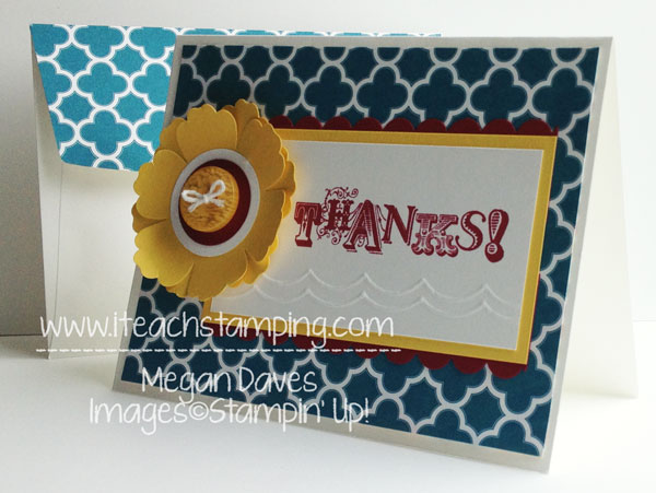 Make an Easy Thank You Card using Vintage Verses from Stampin' Up!