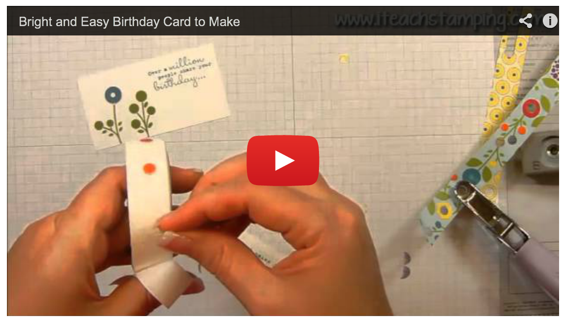 Bright And Easy Birthday Card with One in a Million From Stampin' Up! – Video Tutorial