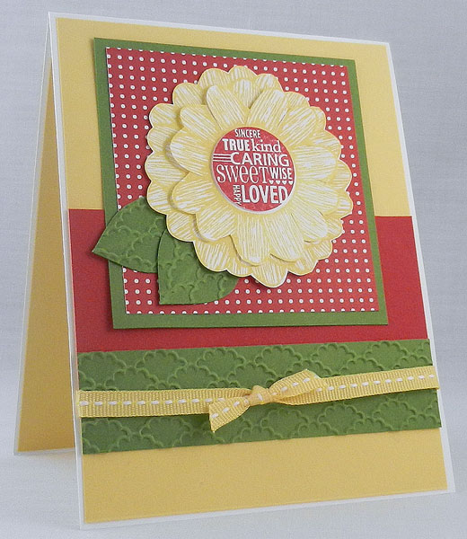 Decorate a Daisy from Stampin' Up! with Summer Smooches