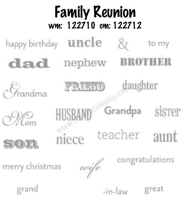Handmade Birthday Card for my Aunt w/ Family Reunion