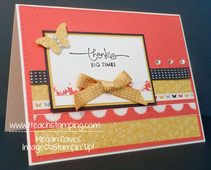 A Word For You Meets Patio Party Patterned Paper (from Stampin' Up!)