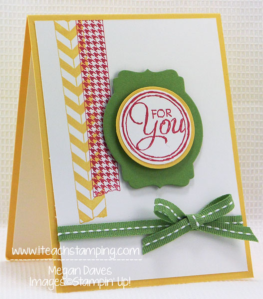 Chalk Talk Meets Washi Tape (Tape It) from Stampin' Up!