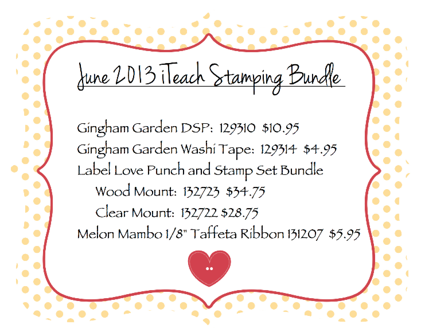 June 2013 Bundle of the Month