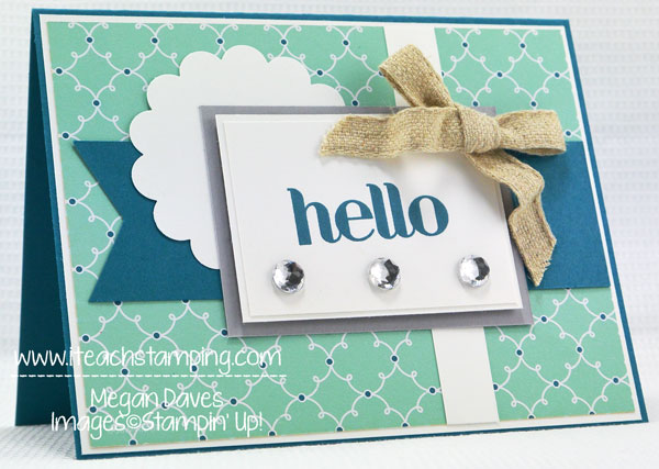 Hand Made Card Idea using Four You from Stampin' Up!