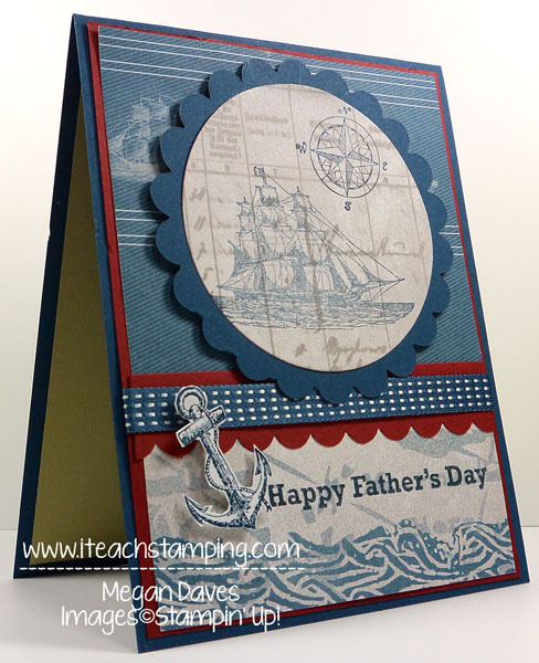 Father's Day Card using Open Seas from Stampin' Up!