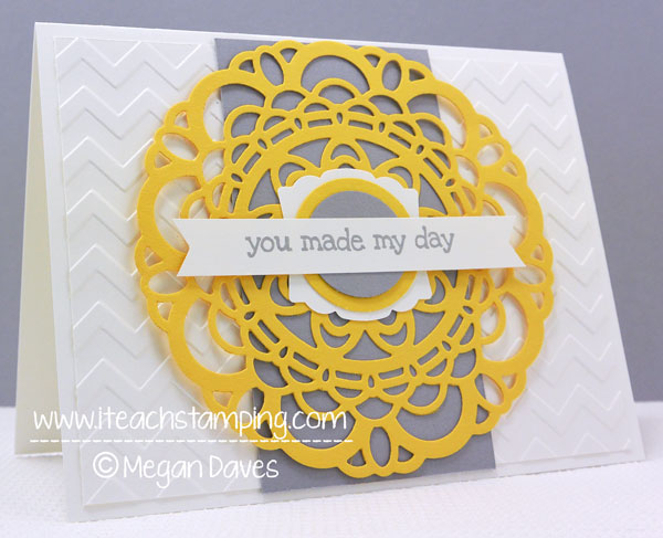 Another Simple Greeting Card Idea using Paper Doily Sizzlit from Stampin' Up!