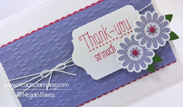DIY Card Making:  Making a Thank You Card