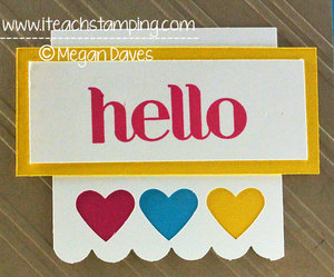 DIY Card Making:  An Easy Rubber Stamping Card Idea