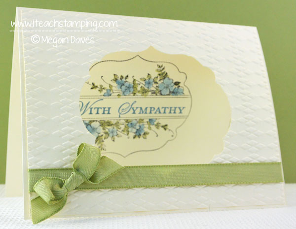 An Easy Sympathy Greeting Card That You Can Make – Video Tutorial