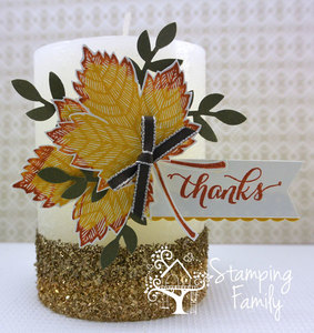 Decorating a Candle Using Your Stamps