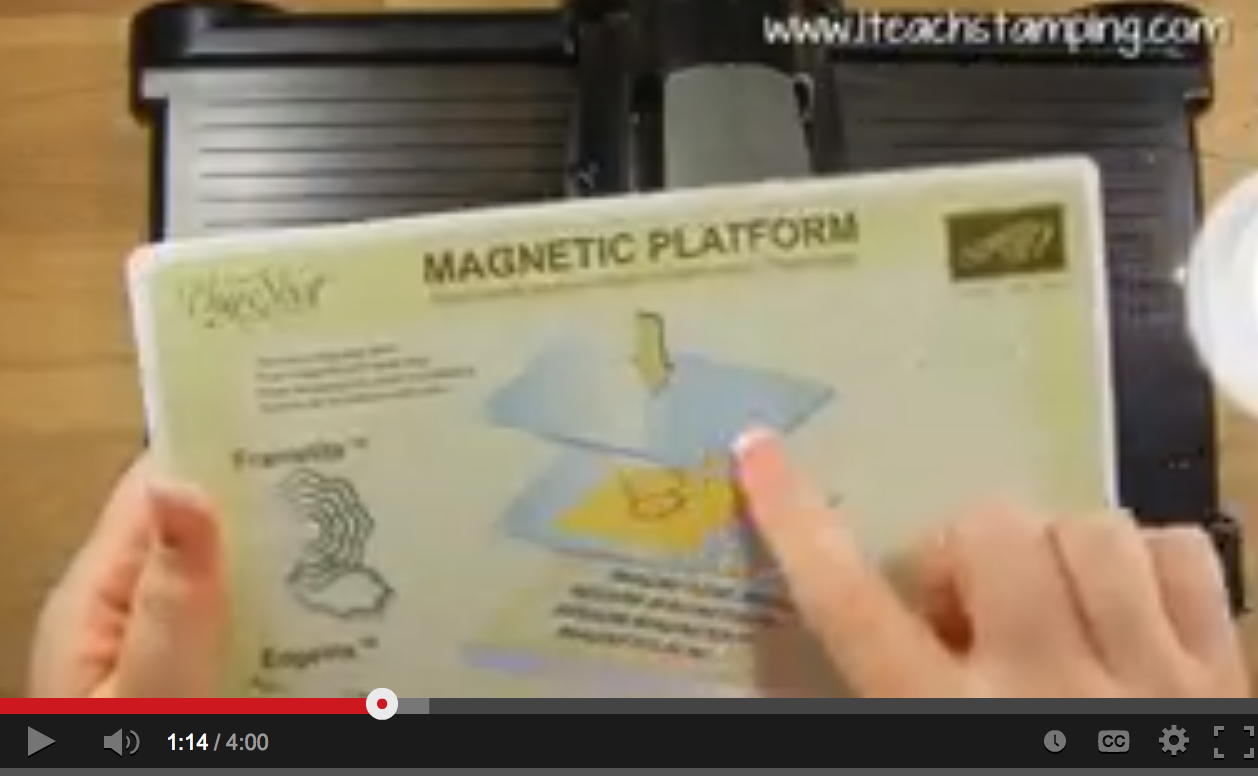 Magnetic Platform For Your Big Shot is Now Available!