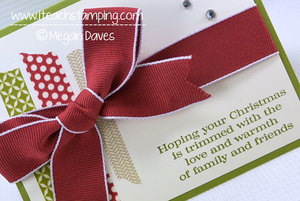 Christmas Messages Meets Season of Style Christmas Card from Stampin' Up!