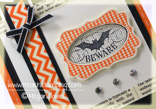 DIY Card Making:  Halloween Bash from Stampin' Up!