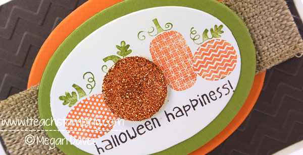 Halloween Happiness Card- How to Dye Your GIimmer / Glitter Paper