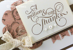Elegant Thank You Card using Million & One from Stampin' Up!
