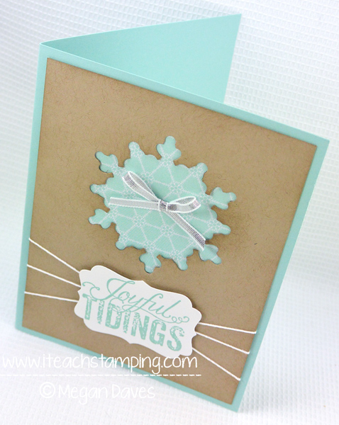 Simple Christmas Card Idea if You Are Making Your Own Christmas Cards