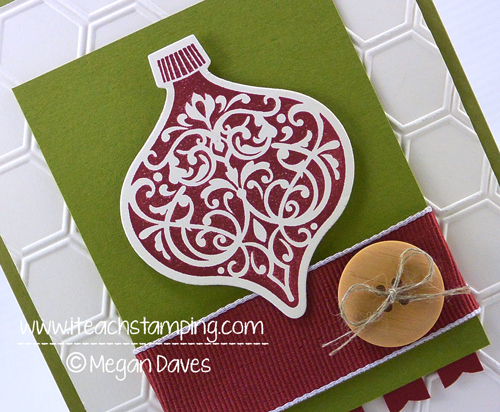 DIY Christmas Card Using Ornament Keepsakes From Stampin' Up!