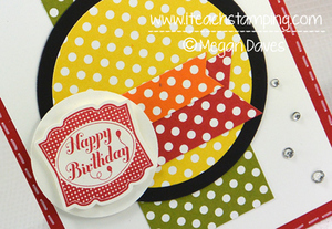 Handmade Polka Dot Birthday Card