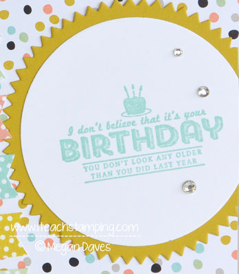 DIY Card Making:  Birthday Card Using Sweet Sorbet