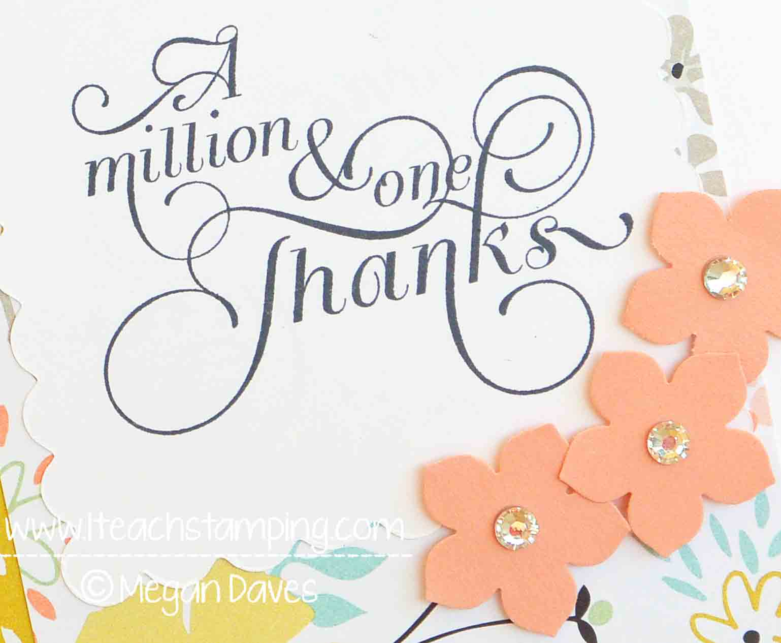 DIY Card Making: A Clean & Simple (CAS) Thank You Card Idea