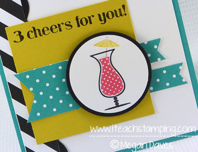 DIY Card Making:  How to Make a Congratulations Card with Stampin' Up's Kaleidoscope