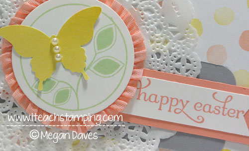 Making an Easter Card Using Stampin' Up's Watercolor Wonder Paper