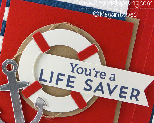 Making a Masculine Card Using Let's Get Nautical