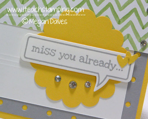 DIY Card Making:  Making a Miss You Card with Just Sayin' From Stampin Up