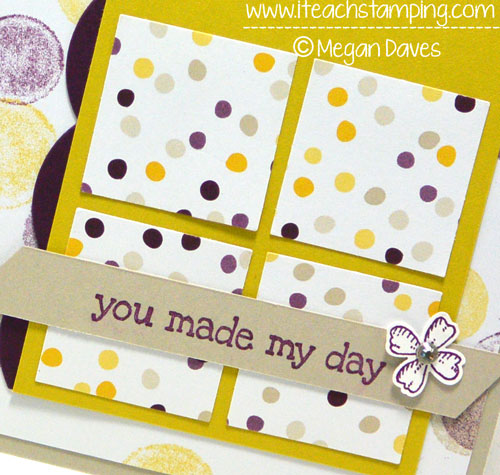 Mixing Blackberry Bliss with Hello Honey from Stampin' Up!