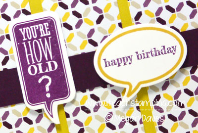 Just Sayin' From Stampin' Up! for a DIY Birthday Card Idea